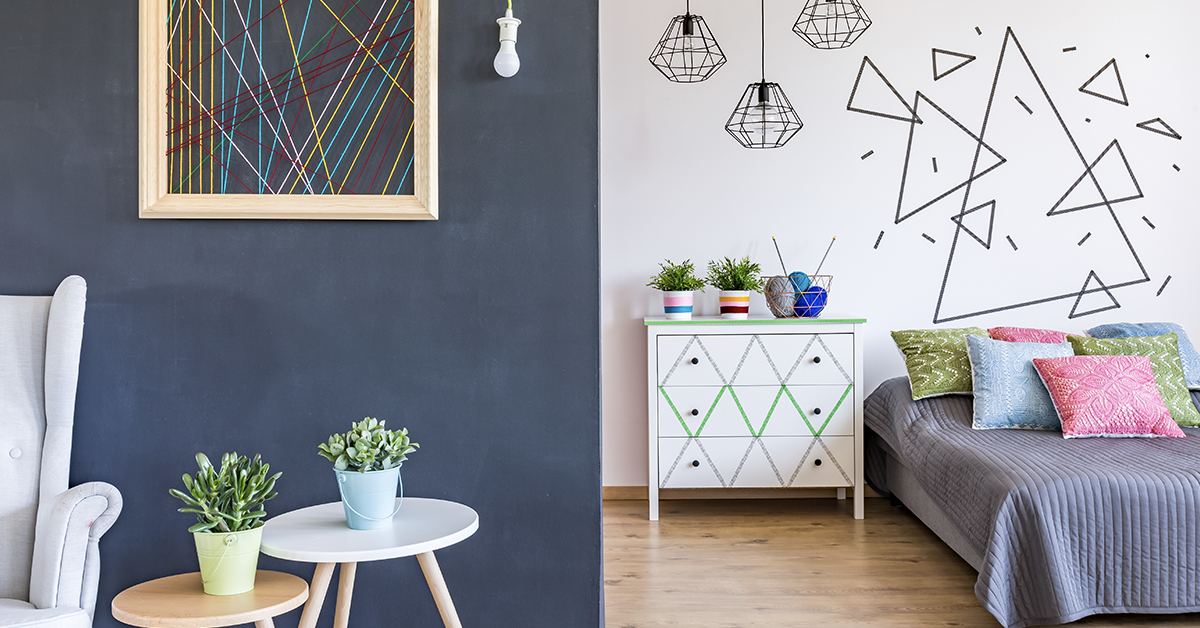 geometric trend image for wall