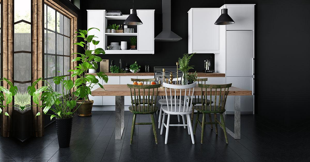 Kitchen Dark Interior Décor Idea