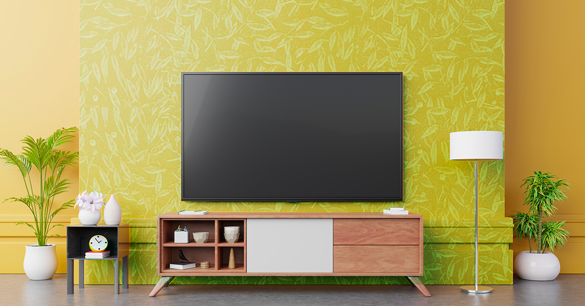 Create A Stylish Tv Wall With These Decor Tips Berger Blog