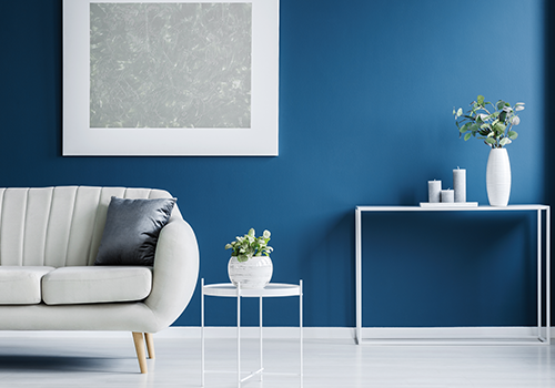 Classic Blue Wall Home Room image
