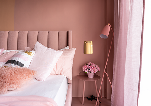 Millennial Pink Colour for Bedroom Walls