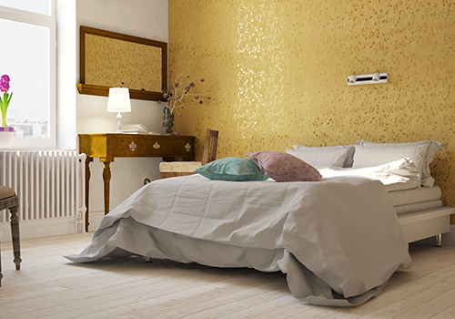 Metallic Colours for Bedroom Walls