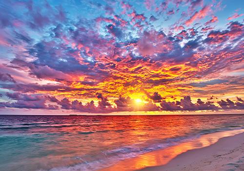 sunset colors paint