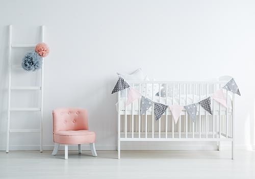 Baby Bedroom Interior Crib Décor