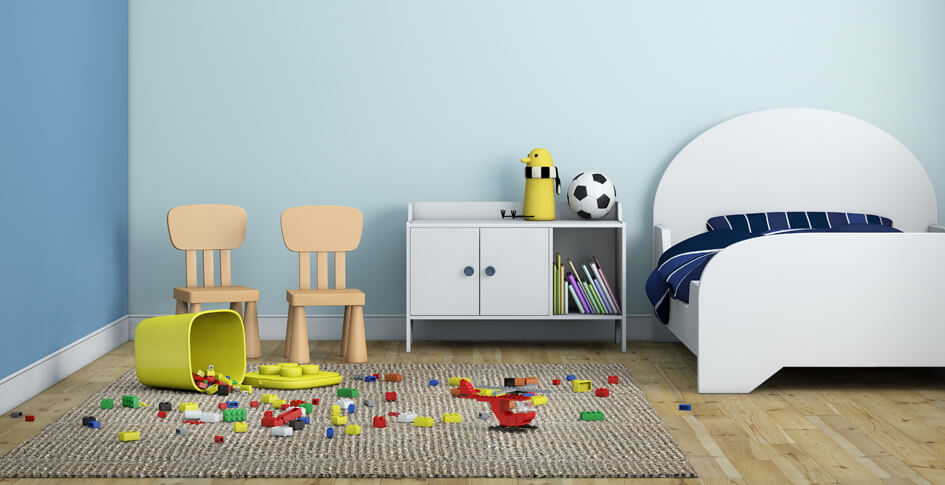 kids room wall paint design ideas, colour combination tips for kidsa playful calm