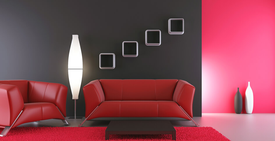 Red colour shades ideas for interior wall paint berger paints - Interior home color combinations and contrast ...
