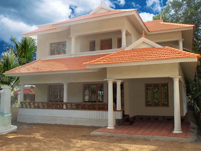 Colour combination for exterior house painting in india for Exterior indian house paint