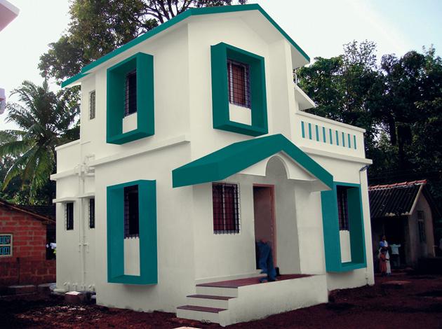 Sense of exterior colours exterior wall painting schemes Indian house color combinations