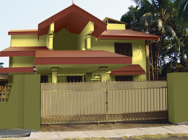 Sense of exterior colours exterior wall painting schemes for Exterior wall paint colors house