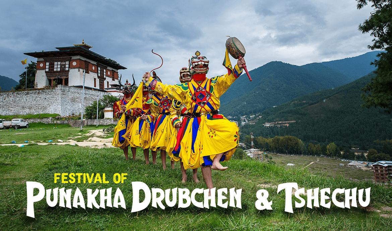 Punakha Tschechu and Drubchen - Bhutan Festival