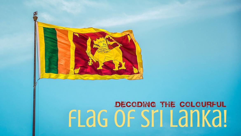 The colourful flag of Sri Lanka