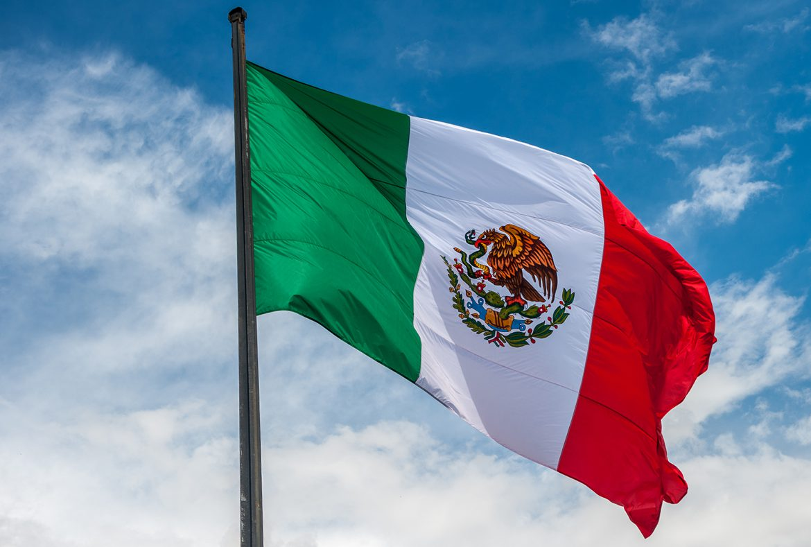 The colourful flag of Mexico