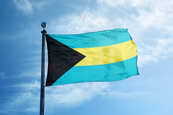 The colourful flag of Bahamas