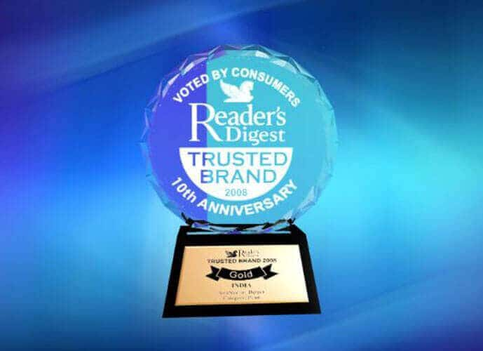 Reader's Digest Gold Award - 2008 Most Trusted Brand