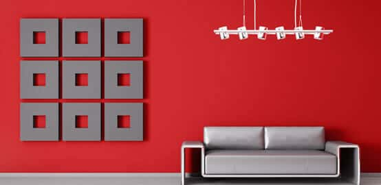 Red Colour Interior wall paint image