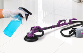 Painters disinfect their equipment and tools daily.