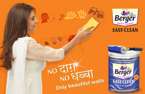 easy clean washable paint for interior walls berger paints. Black Bedroom Furniture Sets. Home Design Ideas