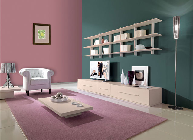 Rooms with mild colours