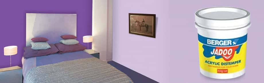 Interior emulsion paints for interior walls from berger paints - Jadoo Acrylic Distemper For Home Walls Berger Paints