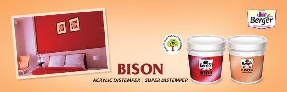 Bison Acrylic Distemper Mat Finish Paint Berger Paints