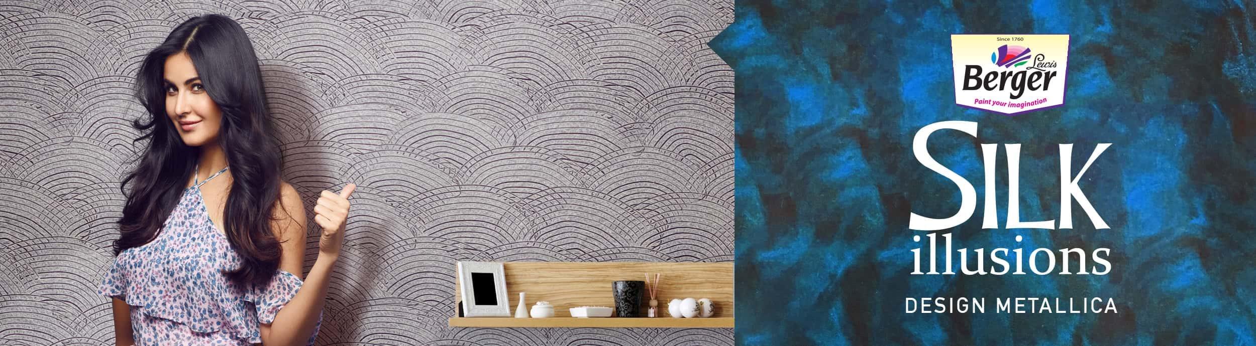 silk illusions design metallica designer wall paints with
